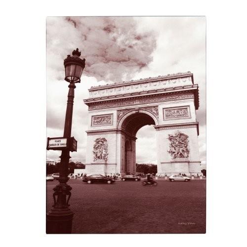 Arc de Triomphe by Kathy Yates, 30x47-Inch Canvas Wall Art [30x47-Inch]
