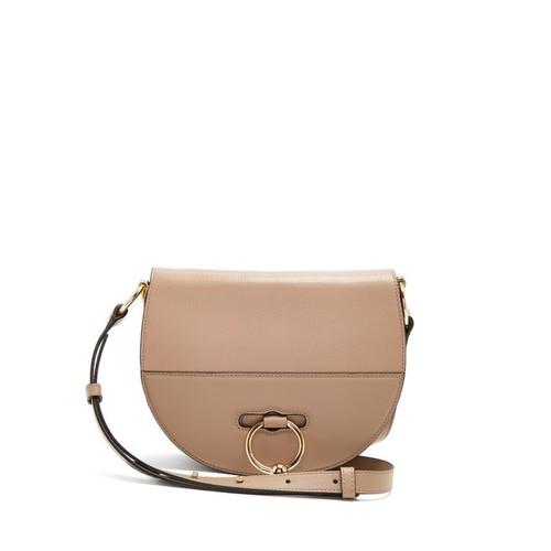 ch halfmoon leather cross-body bag