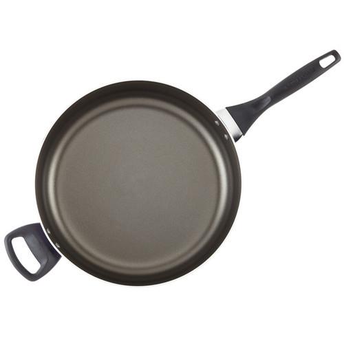 Farberware Dishwasher Safe Nonstick Aluminum Covered Jumbo Cooker with Helper Handle, 6-Quart [option : Black]