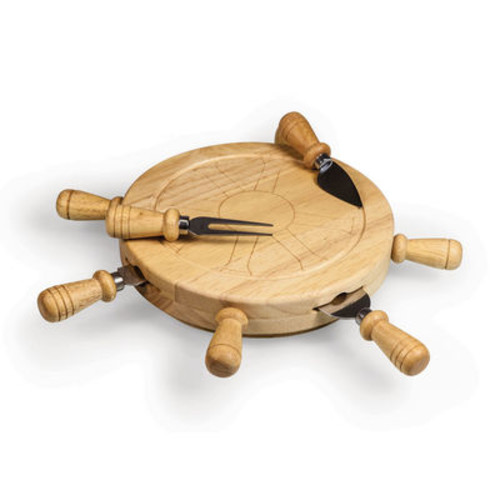 Picnic Time Mariner Cheese Board with Tools