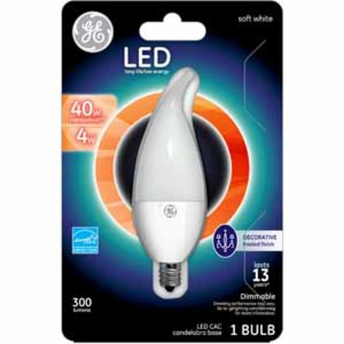 GE Lighting LED 40W Replacement Frosted CAC - Soft White