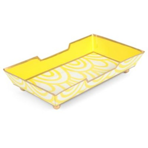 Jaye's Studio Scales Guest Towel Tray in Yellow