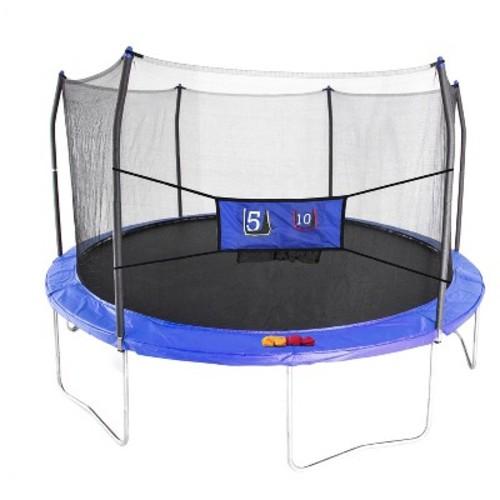 Skywalker Trampolines 15' Round Jump-N-Toss Trampoline with Enclosure - Blue