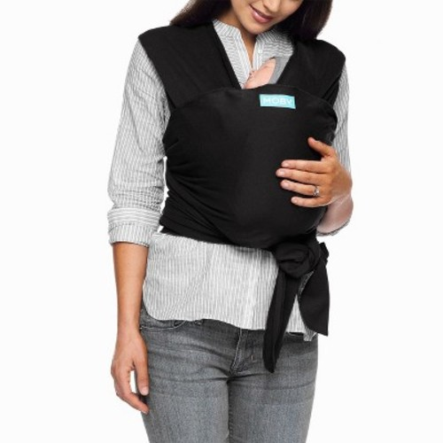 Moby Wrap Baby Carrier for Newborns + Toddlers Soft Baby Sling Baby Wrap, Ideal for Baby Wearing, Breastfeeding, and Keeping Baby Close - Black [Black]