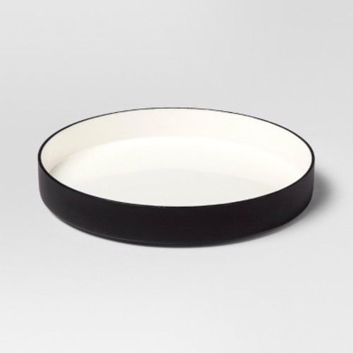 Enamel Tray Small - White/Black - Project 62