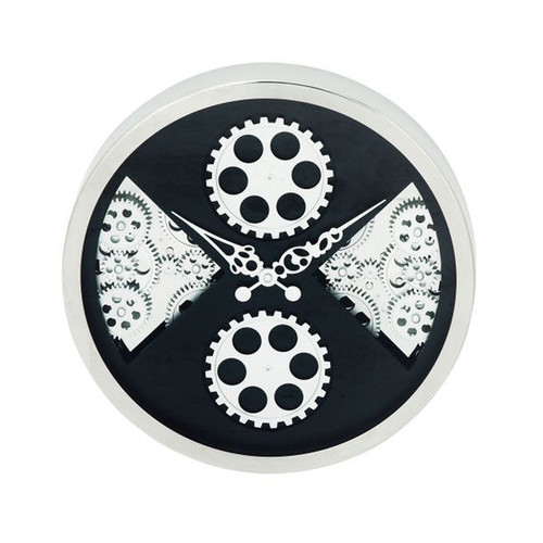 Trendy Stainless Steel Gear Wall Clock