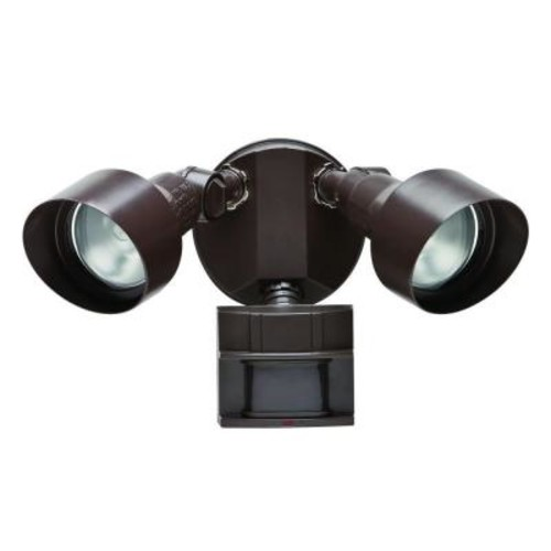 Defiant 110-Degree Bronze Motion Outdoor Security Light