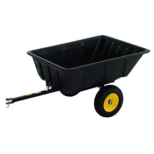 Polar Trailer 9542 LG10 Lawn and Garden Trailer, 10 Cubic Feet-Level, 13 Cubic Feet-Heaping