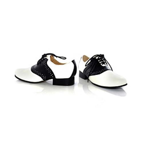 Saddle Black and White Child Shoes