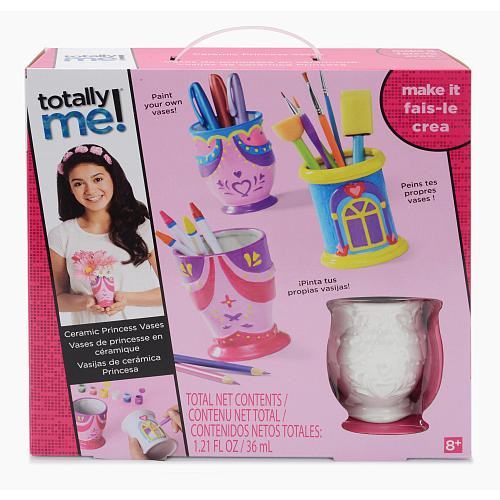 Totally Me! Paint Your Own Ceramic Princess Vase Craft Kit