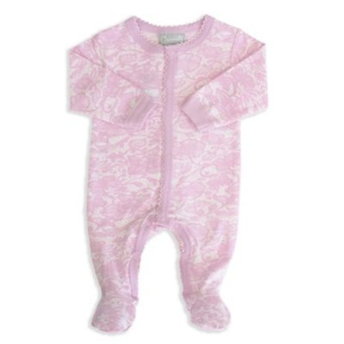 Coccoli Carnival in Venice Size 6M Snap Front Footie in Pink Lace