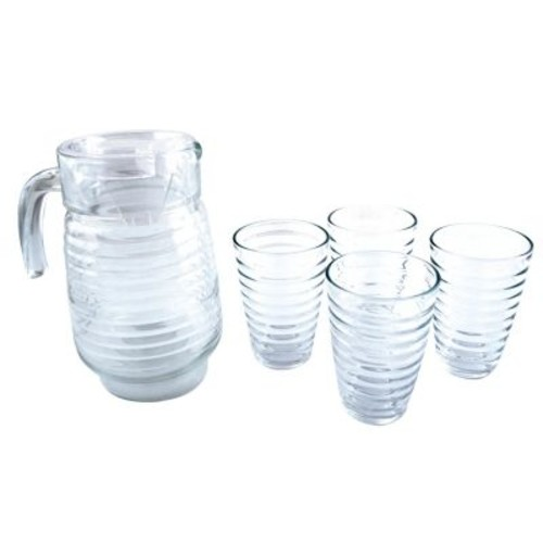 Euro-Ware 5-Piece Glass Decanter and Tumbler Set