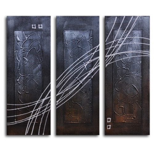 Strings Across Panels 3 Piece Painting on Canvas Set