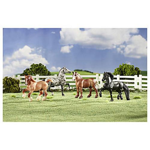 Breyer Stablemates Gentle Giants Draft Horse Set