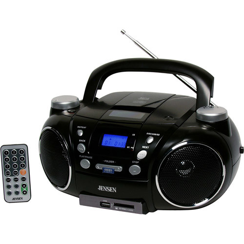 Jensen CD750 Portable AM/FM Stereo CD Player with MP3 Encoder/Player