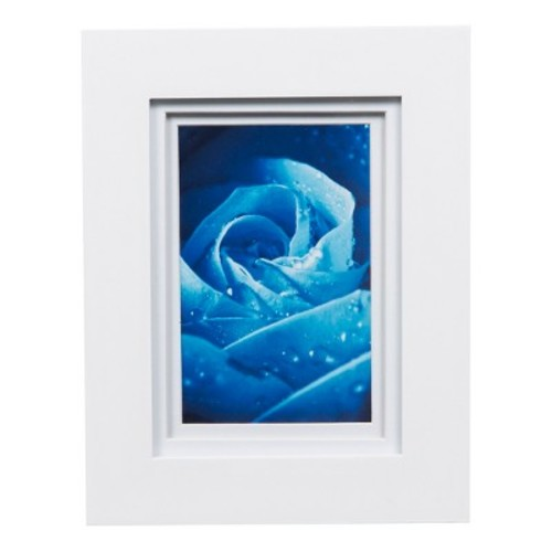 Single Image 5X7 Wide Double Mat White 4X6 Frame - Gallery Solutions