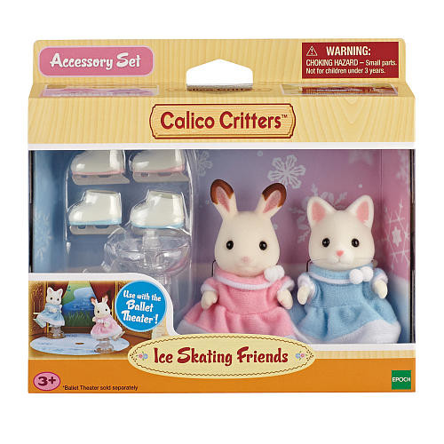 Calico Critters Ice Skating Friends Accessory Set