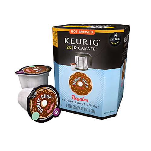 The Original Donut Shop Light Roast Coffee K-Carafes, 0.4 Oz, Pack Of 8