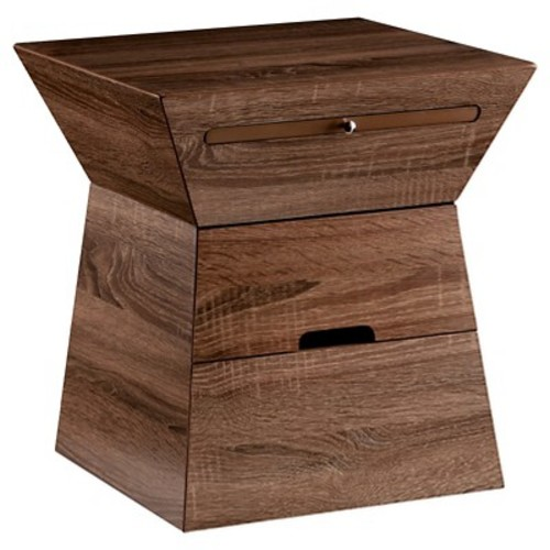 Dylan Storage Accent Table - Weathered Oak - Southern Enterprises