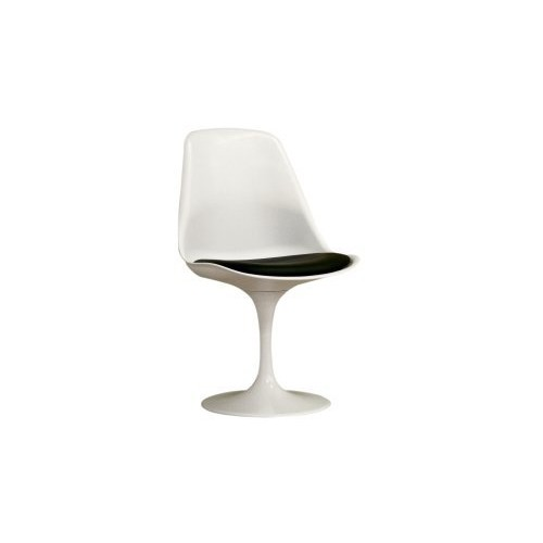 Baxton Sutdios Frediana White chair with black PVC cushion
