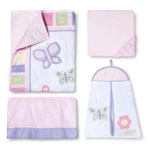 Sweet Jojo Designs Butterfly Collection 11-Piece Crib Bedding Set - Pink/Purple