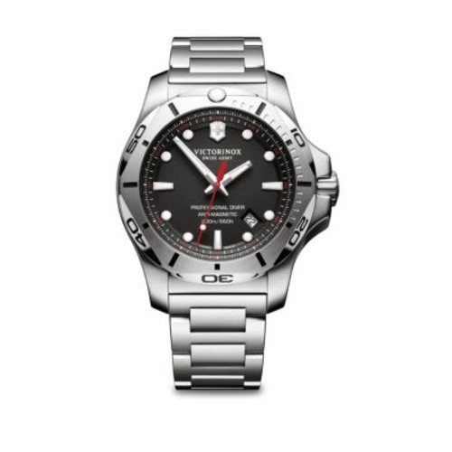 Inox Pro Diver Black Dial Stainless Steel Bracelet Watch