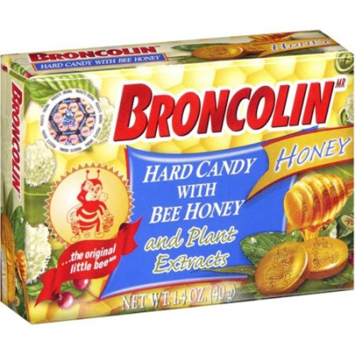 Broncolin Hard Candy With Bee Honey And Plant Extracts 1.4 Ounce