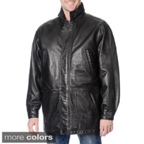 Mason & Cooper Men's Garner Leather Parka