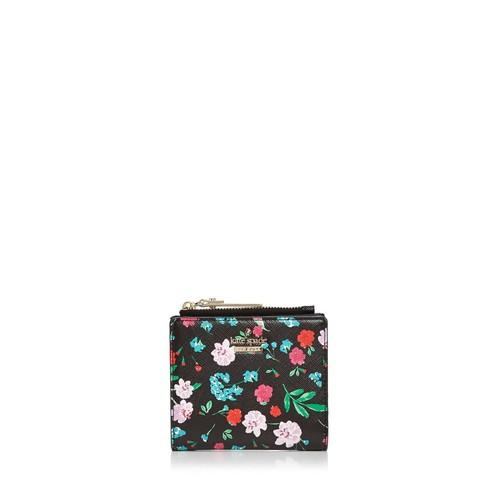 KATE SPADE NEW YORK Cameron Street Adalyn Floral Print Leather Wallet