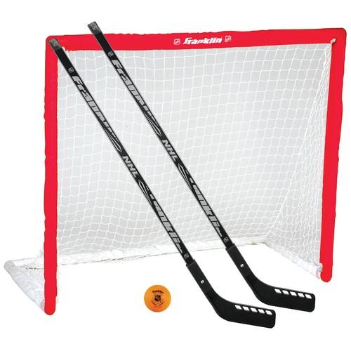 Franklin Sports NHL Hockey Goal, Hockey Stick & Ball Set
