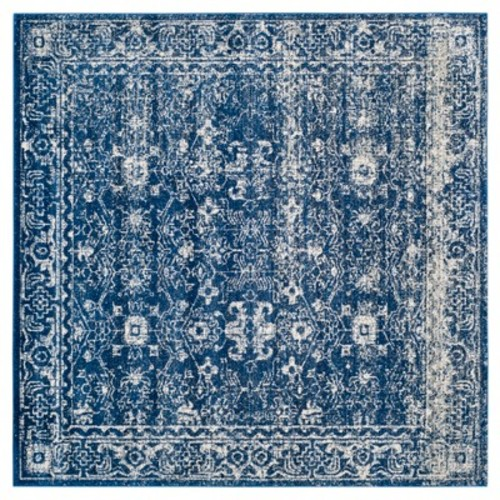 Safavieh Evoke Collection EVK270A Vintage Navy and Ivory Square Area Rug (6'7