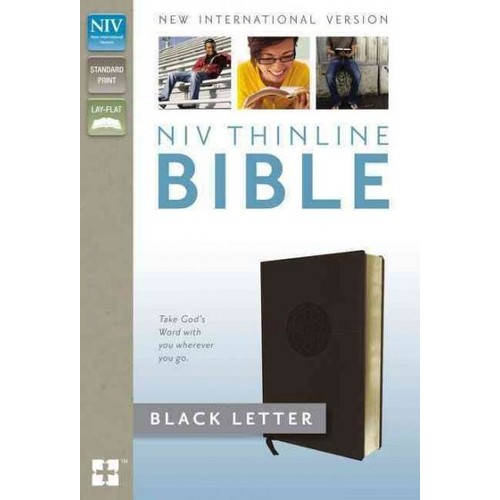 Holy Bible: New International Version, Brown, Thinline, Imitation Leather, With Ribbon Marker (Paperback)