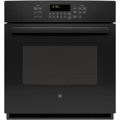 GE Profile 27 in. Single Electric Smart Wall Oven Self-Cleaning with Steam Plus Convection and WiFi in Black