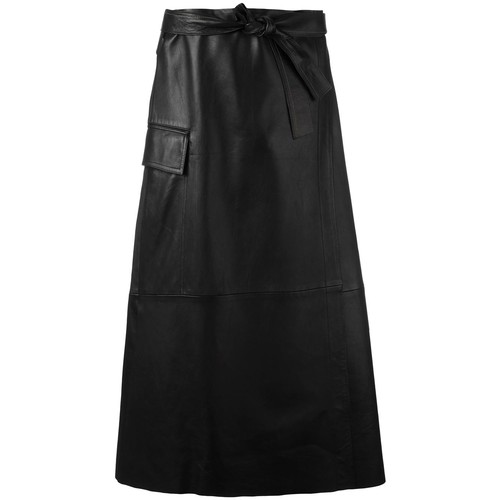 HELMUT LANG Leather Midi Skirt