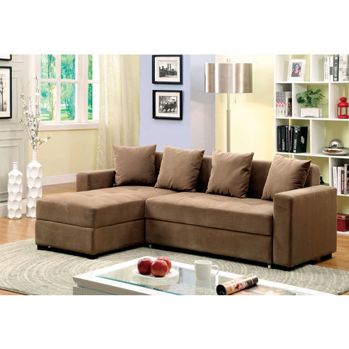 Furniture of America Brown Doma Adjustable Storage Sectional