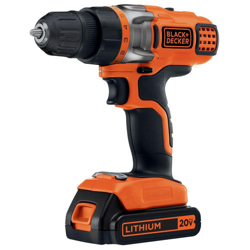 BLACK+DECKER 20-Volt MAX Lithium-Ion Cordless Drill/Driver with Battery 1.5Ah and Charger