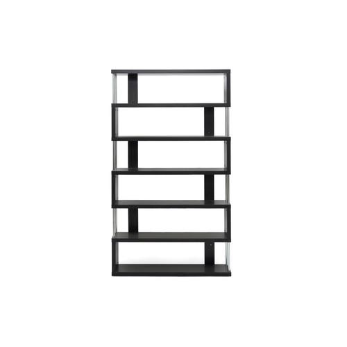 Wholesale Interiors FP-6D Barnes Dark Brown Six-Shelf Modern Bookcase