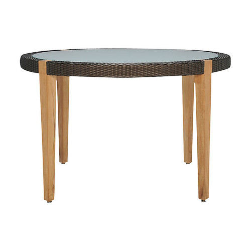 Quinta Round Dining Table, Natural/Bronze