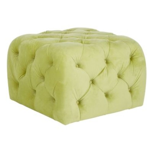 Kenan Ottoman by Safavieh [Upholstery : Granny Smith Apple Green]