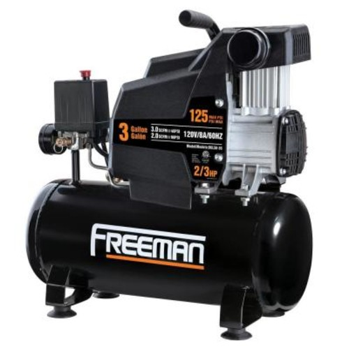 Freeman 3 Gal. Oil Free Portable Electric Air Compressor