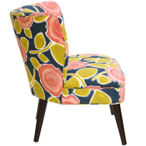 Skyline Furniture Beale Garden Poppy Curved Armless Chair