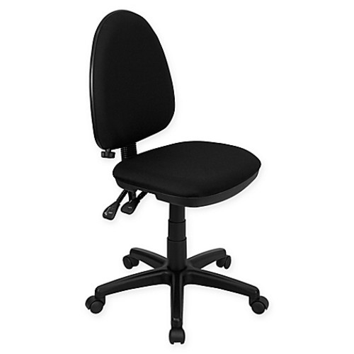 Flash Furniture Mid-Back Fabric Drafting Chair With Adjustable Lumbar Support in Black