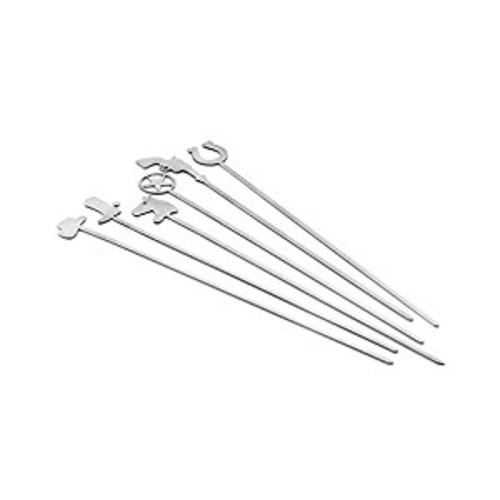 Outset QS79 Lone Star Skewers, Stainless Steel, Set of 6