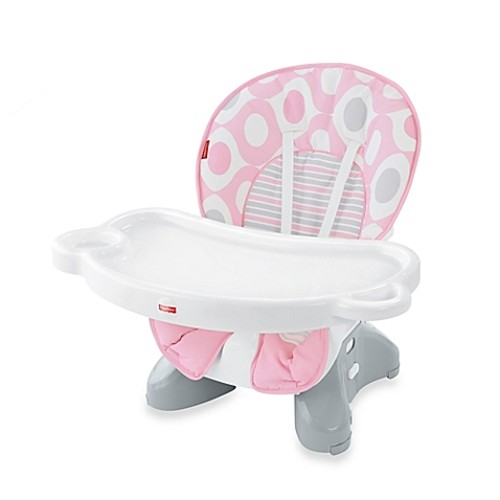 Fisher-Price Spacesaver High Chair in Pink Ellipse