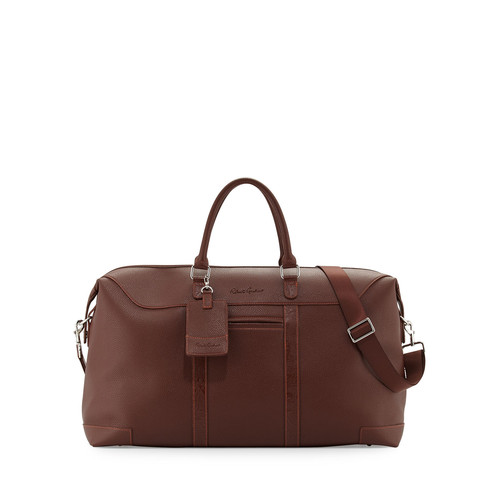 Robert Graham Large Faux-Leather Weekender Bag, Brown