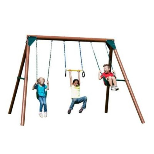 Swing-N-Slide Playsets Orbiter Wood Complete Swing Set