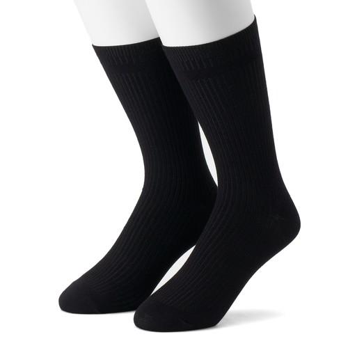 Men's Dr. Scholl's 2-pack Dress Rib Crew Socks