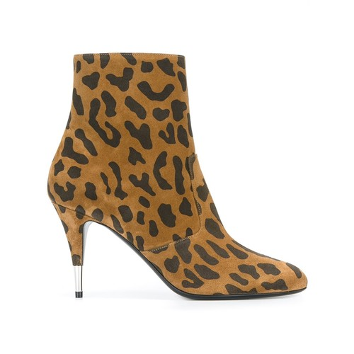 SAINT LAURENT 'Anita 85' Zipped Ankle Boots