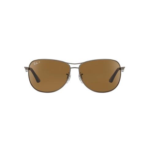 Ray-Ban RB3519 62 62 Brown & Gunmetal Matte Polarized Sunglasses