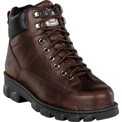 Georgia Men's Eagle Light Wide Load Steel Toe EH Work Boots - Dark Brown Soggy, Size 9 1/2,